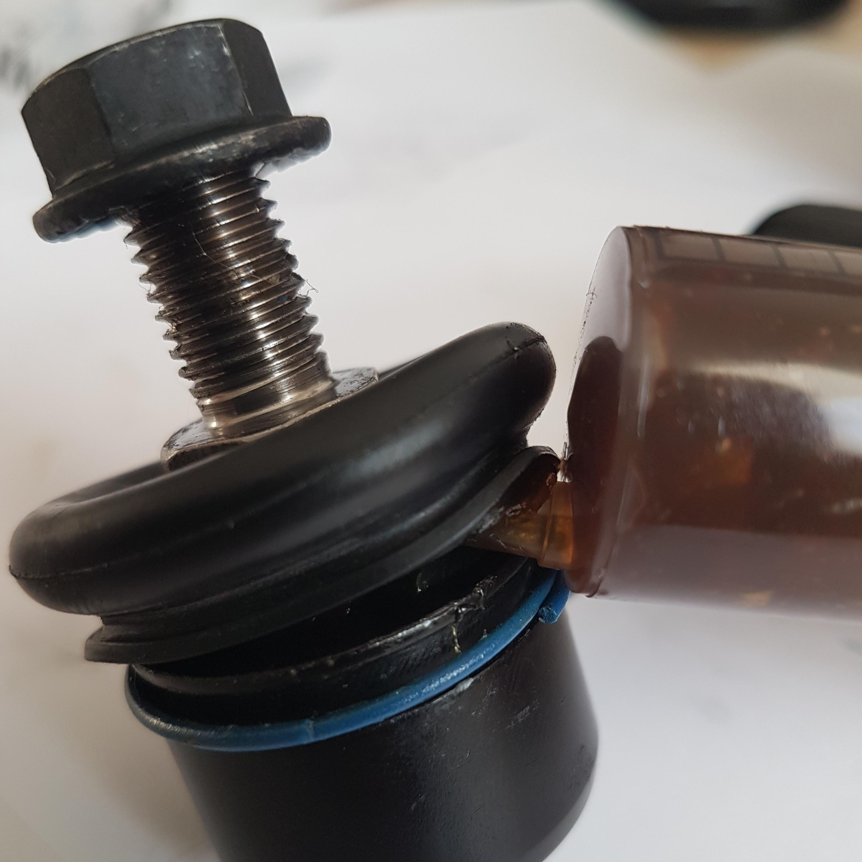 Замена смазки шарнира стойки стабилизатора на ШРБ-4