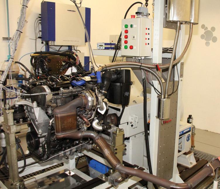 Динамометрический стенд на базе дизельного двигателя