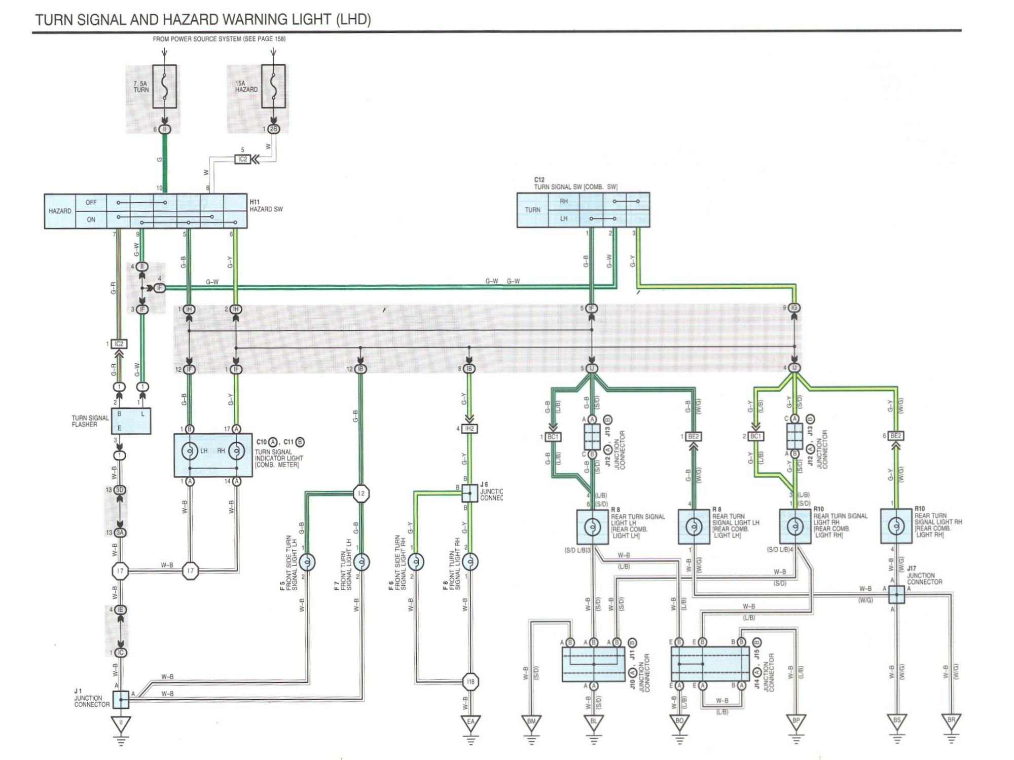 Схема реле поворотов Авенсис